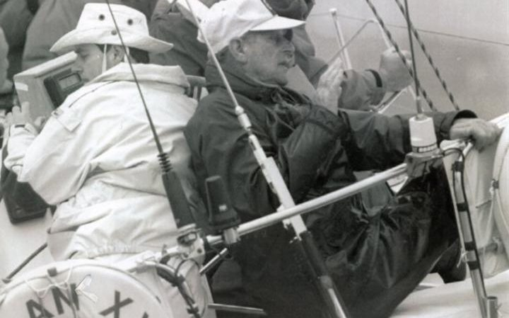 1993: Prince Edward with his father Prince Philip on the yacht Yeoman XXVIII