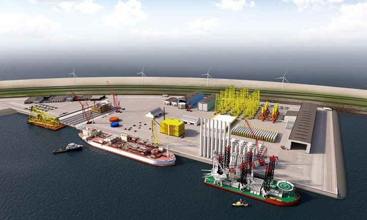 Offshore Center Maasvlakte 2, Rotterdam: new land for wind farms at sea