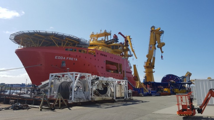 Spotted: DeepOcean's Edda Freya mobilized for Statoil SURF campaign