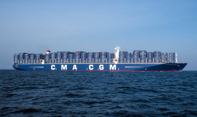CMA CGM deploys largest cargo vessel ever to call at a U.S. port