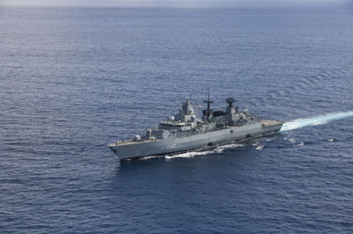 German frigate FGS Bayern nearing homeport after Aegean deployment