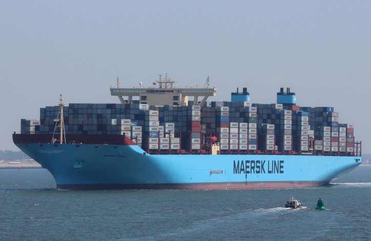 Maersk Line in second position with reliability score of 80.4%