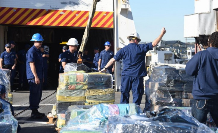 US Coast Guard Offloads $765 M of Cocaine