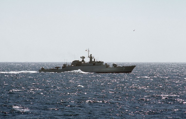 Five Iranian patrol boats fire at oil tanker in Persian Gulf