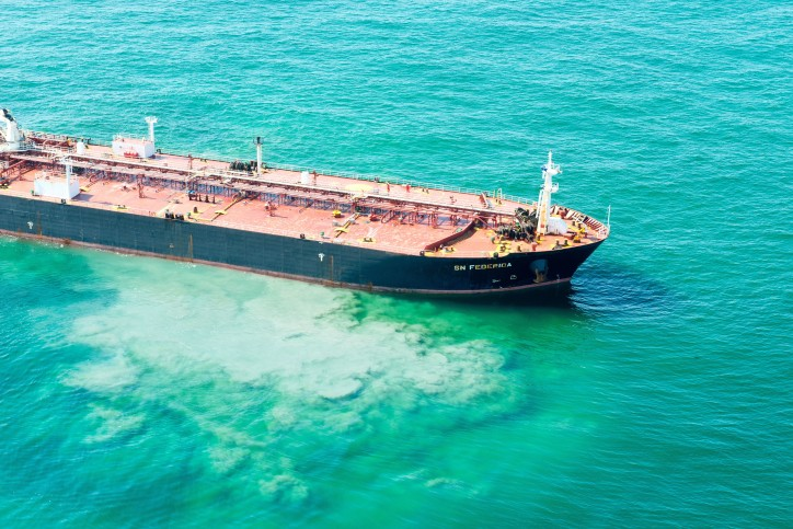 Grounded Tanker ship SN Federica off Texas has been Refloated