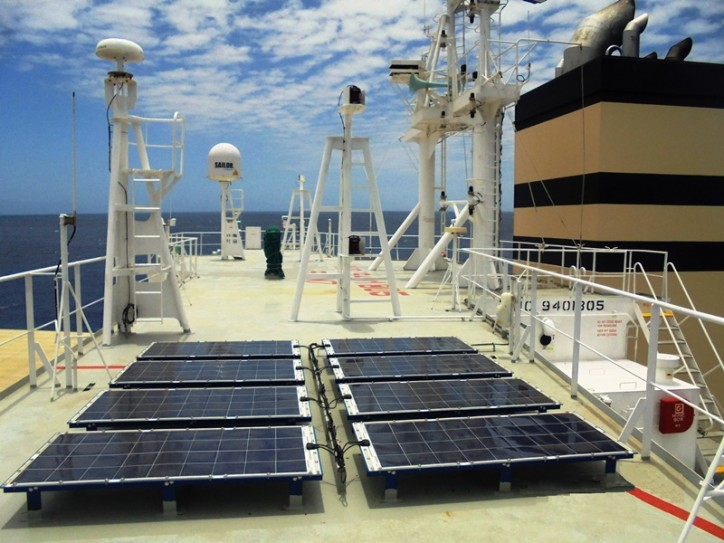 Ship Solar Power System Installed on Large General Cargo Ship MV Panamana