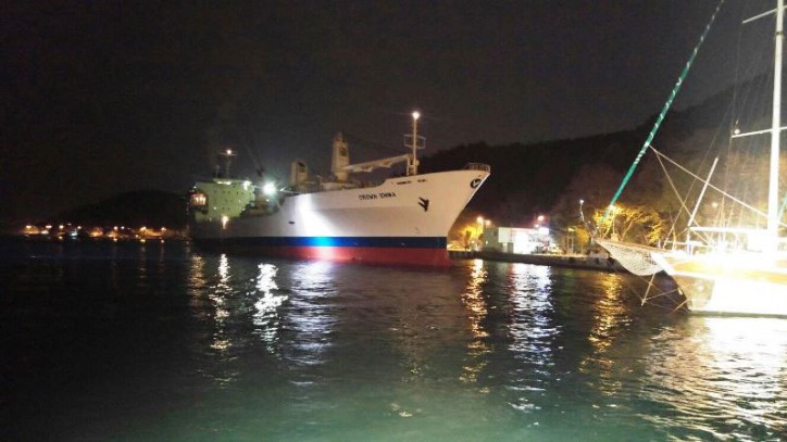 Cargo ship Crown Emma runs aground in Bosporus