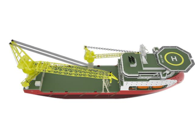 ULSTEIN HX103 heavy lift vessel design
