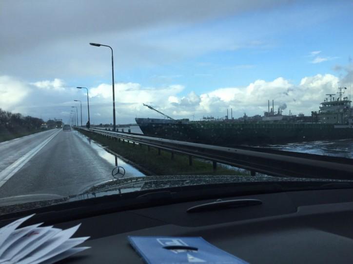 Cargo ship SARDIUS rammed a dike in Ijmuiden, Netherlands
