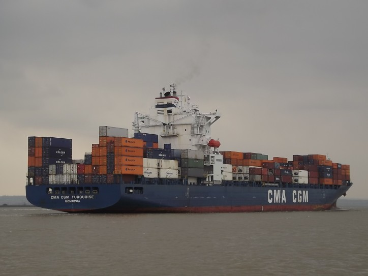 Container ship CMA CGM Turquoise Attacked off Nigeria