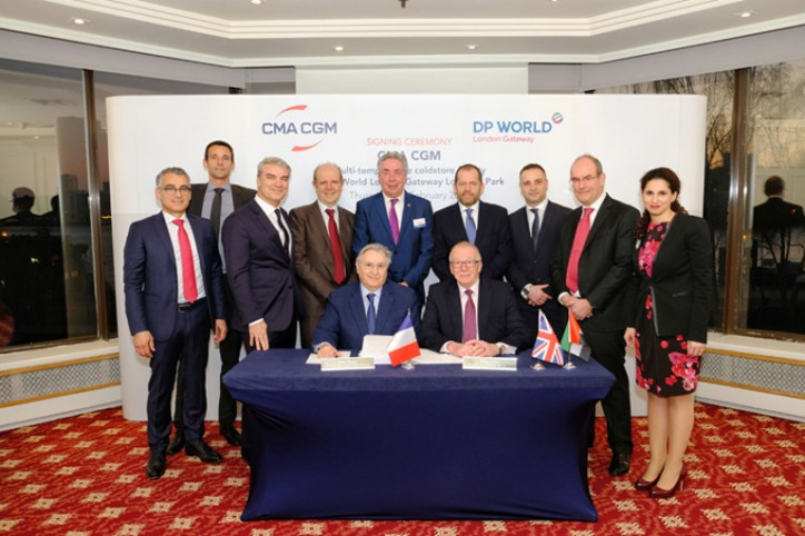 The CMA CGM Group to set up a multi-temperature logistics facility at DP World London Gateway to offer new services to its customers