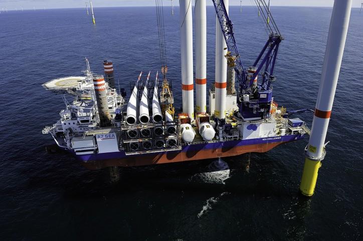 A2Sea Installs First Turbine On Dudgeon OWF