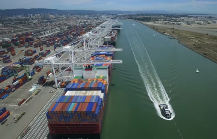 Port of Oakland reports busiest month in the past year