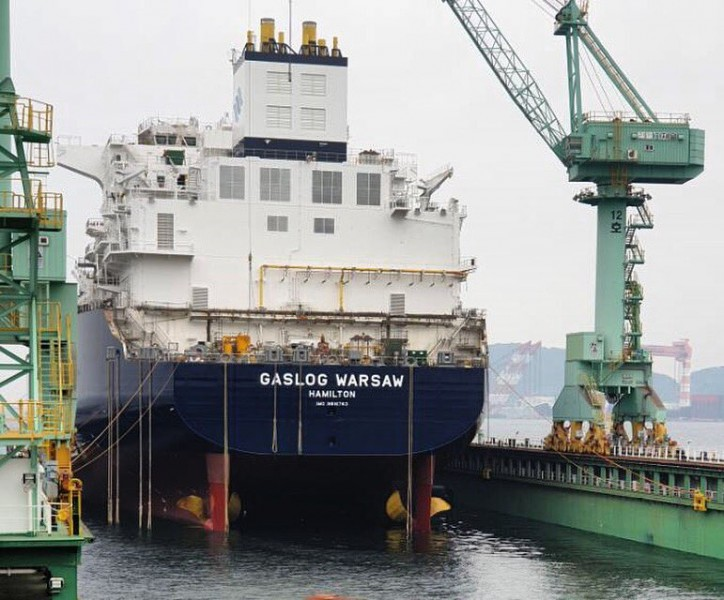 GasLog LNG newbuild, GasLog Warsaw, launched at SHI shipyard