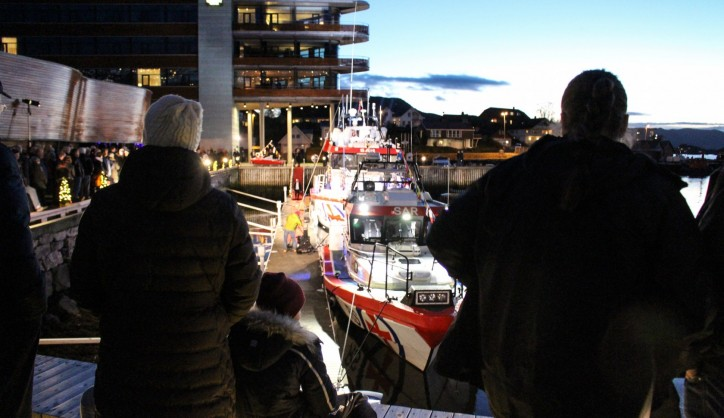 The latest newbuild in the Norwegian Society for Sea Rescue's fleet, RS Idar Ulstein,was named in Ulsteinvik on November 12, 2015.