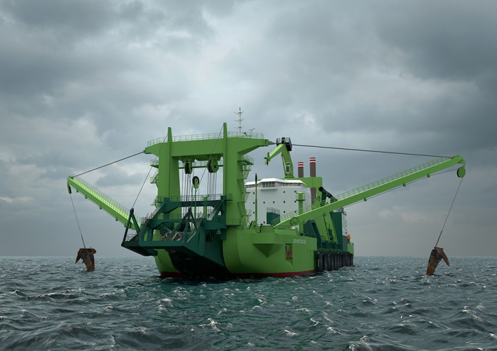 World's most powerful Cutter Suction Dredger 'Spartacus' set to join DEME fleet