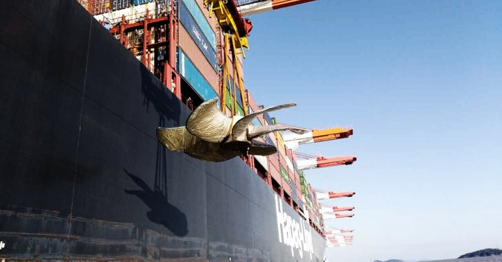 Hapag-Lloyd's container ship Ludwigshafen Express to transport ship propellers to Jebel Ali, Dubai