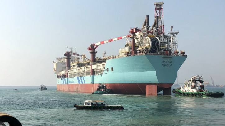 FPSO Aoka Mizu sails away from Dubai
