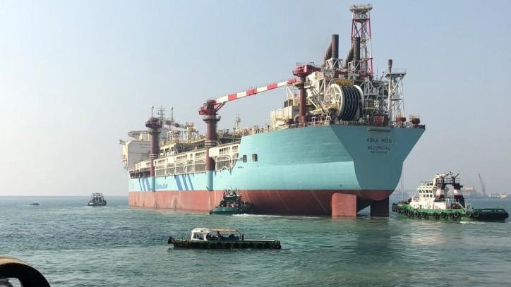 FPSO Aoka Mizu sails away from Dubai