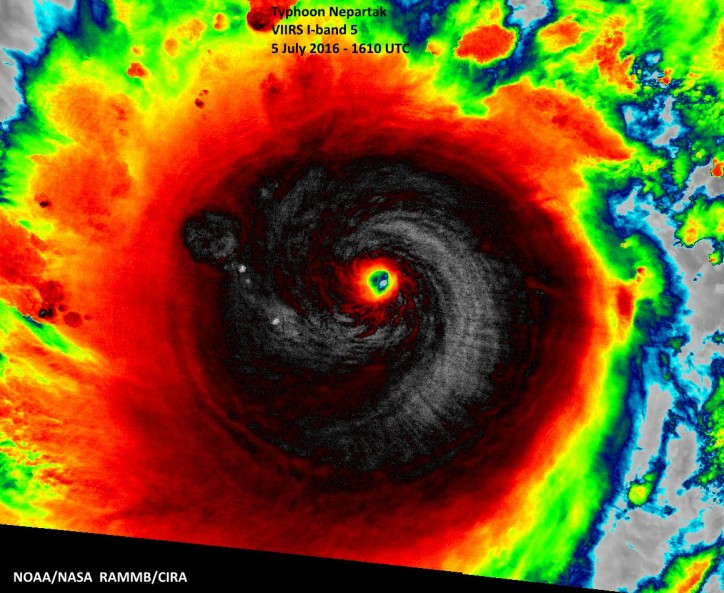 Taiwan on Alert for 'near Perfect' Super Typhoon Nepartak heat map