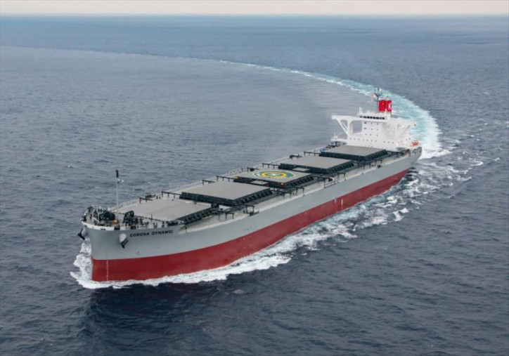 K-Line Announces Delivery of 'Corona' Series Coal Carrier CORONA DYNAMIC