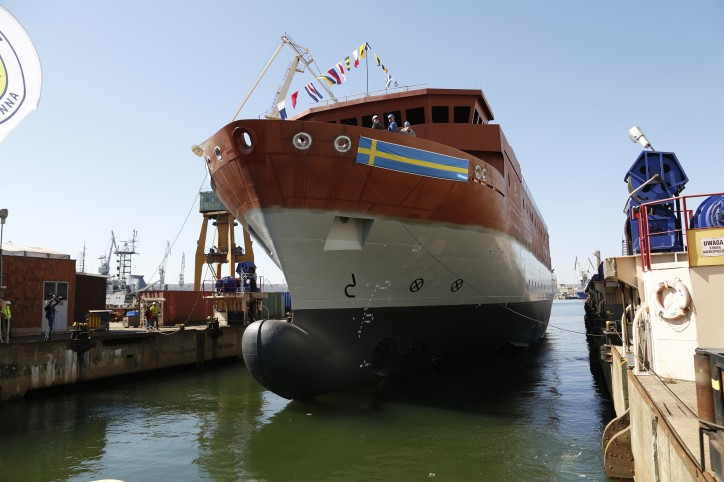 New Swedish SIGINT ship launched in Gdynia