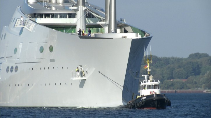 World's Largest Sailing Yacht Makes Its Debut in Germany
