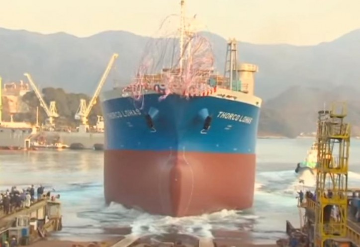 Thorco's Tenth Newbuilding Makes a Splash (Video)