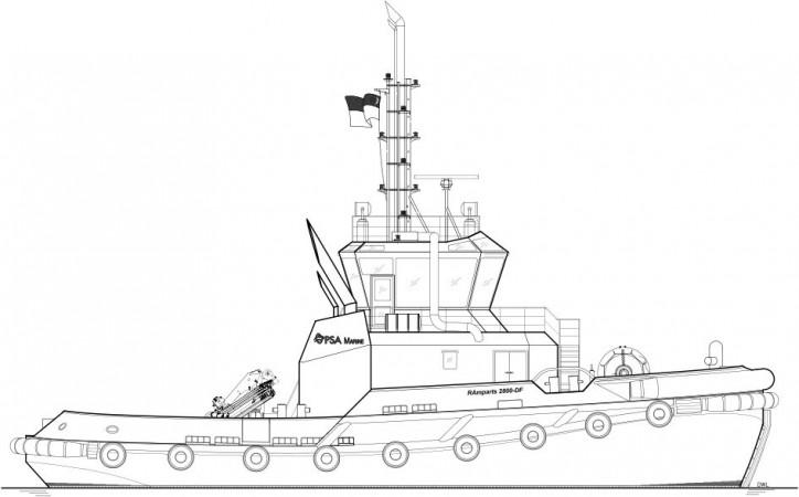 Robert Allan Ltd. designs the very first RAmparts 2800-DF for PSA Marine