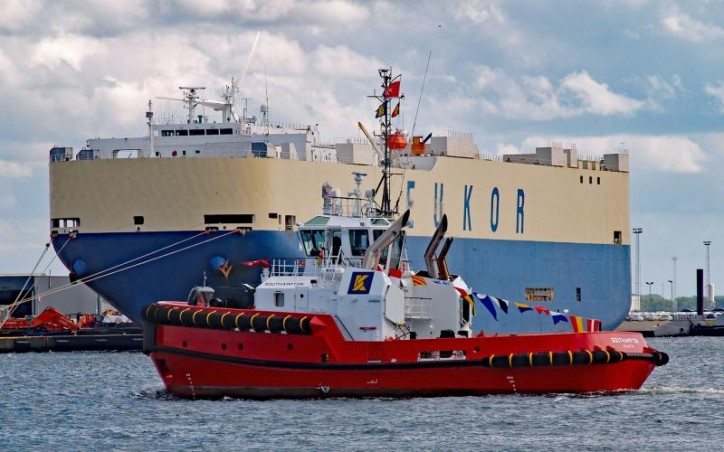 "Kotug Smit Towage christens ""Southampton"" tug in Zeebrugge"