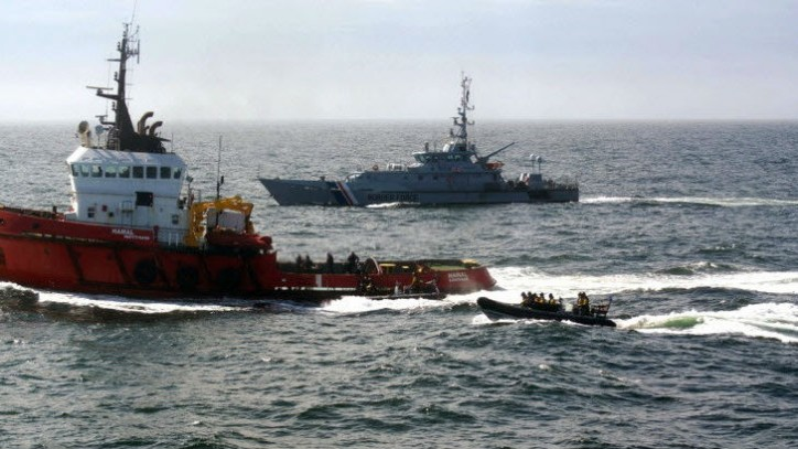 Cocaine Seized from Ukrainian Ocean-going Tug in North Sea