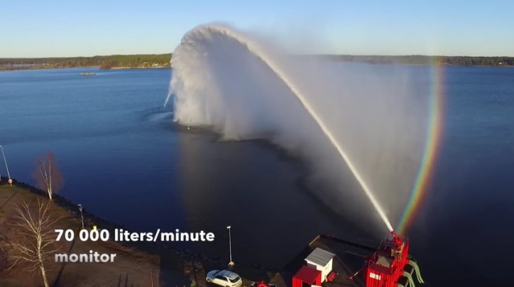 Test of World's Largest Water Cannon (Video) - VesselFinder