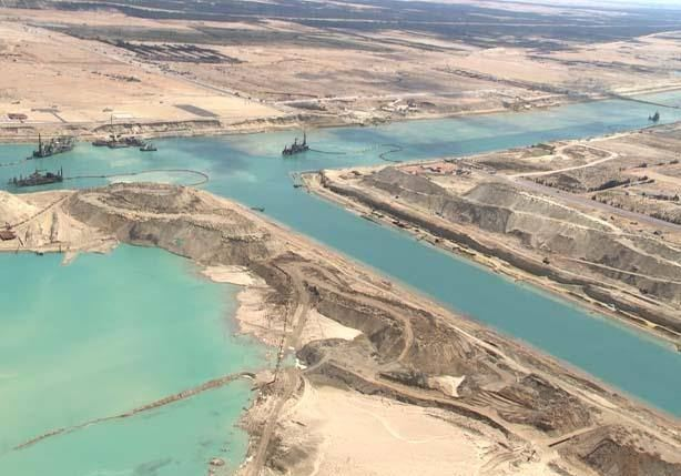 Dredging of the new Suez Canal
