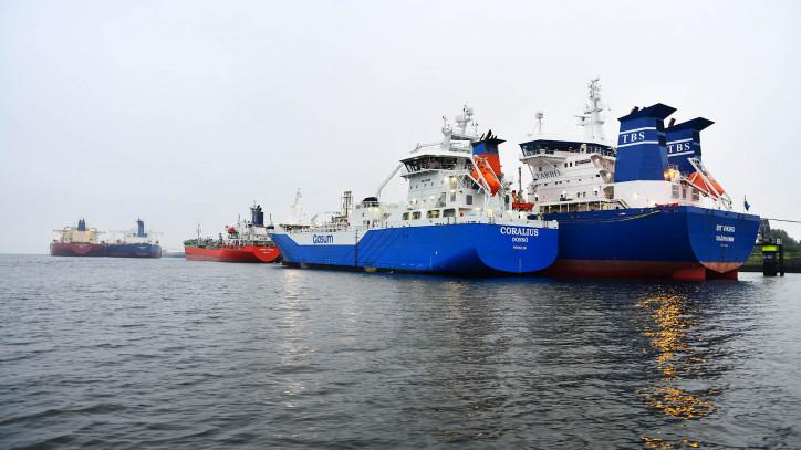 Gasum's Coralius reaches bunkering milestone in Rotterdam bunkering ship-to-ship