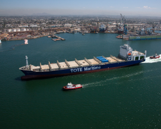 NASSCO Delivers World's First LNG-Powered Containership, the Isla Bella, to TOTE