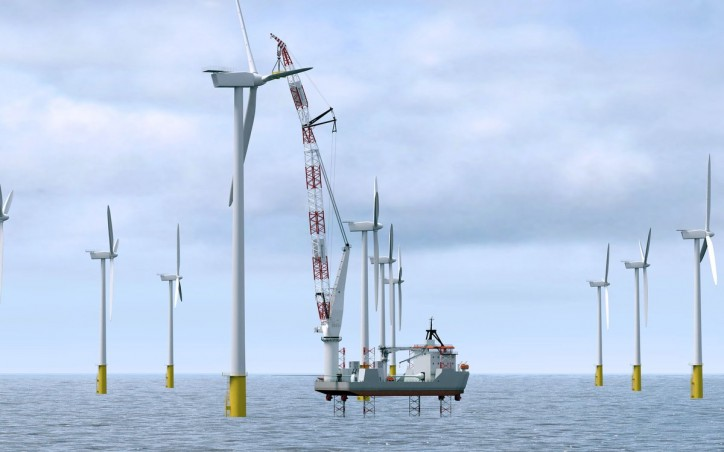 Huisman Introduces New Crane Type For Offshore Wind