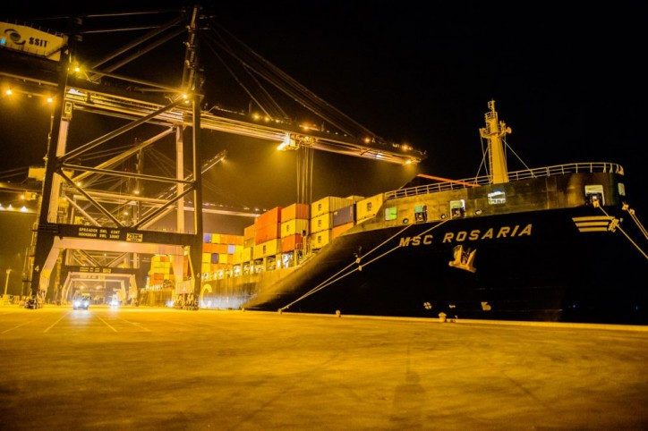 First container vessel berths at SP-SSA International Terminal (SSIT)