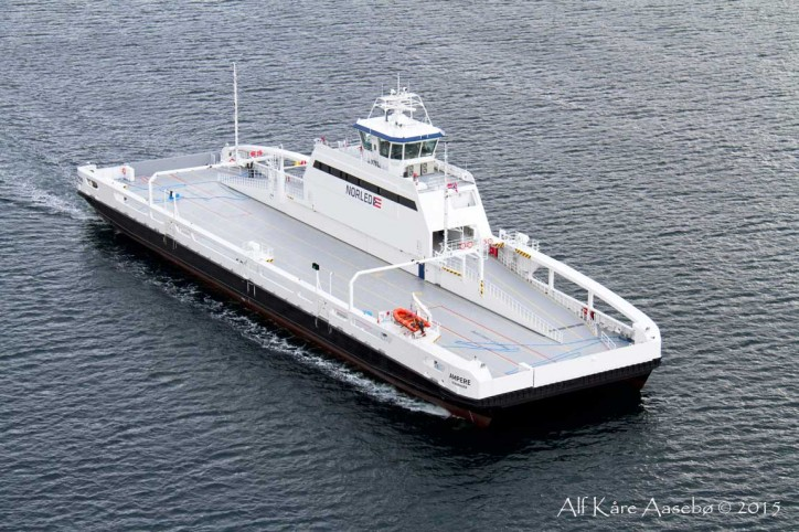 First in the World Electric Car Ferry Enters Service ...