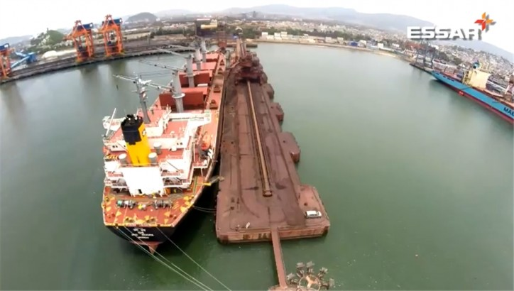 Essar Builds India's Largest Iron Ore Handling Complex Of 24 MTPA At Vizag Port (Video)