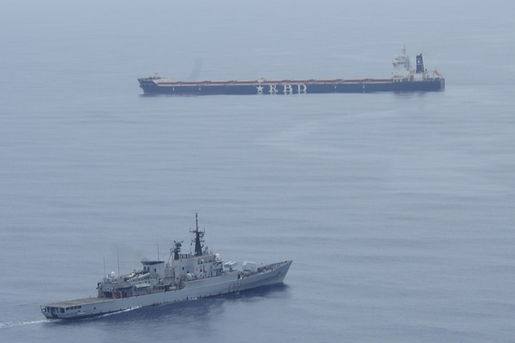 EU warship ITS Libeccio responded to a distress call from an Italian-flagged merchant vessel MV Roberto Rizzo