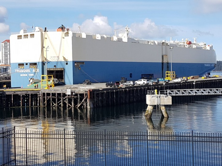 Mercedes test runs new Vehicle Processing Centre with arrival of Tranquil Ace at the Port of Nanaimo