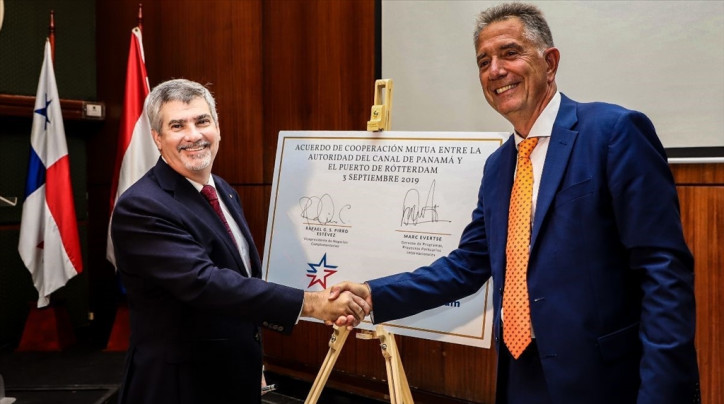 Panama Canal Signs Agreement with Port of Rotterdam