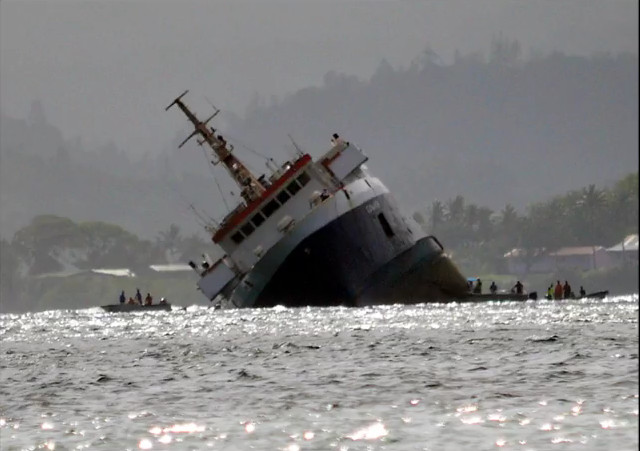 Ferry capsizes off Fijian capital Suva