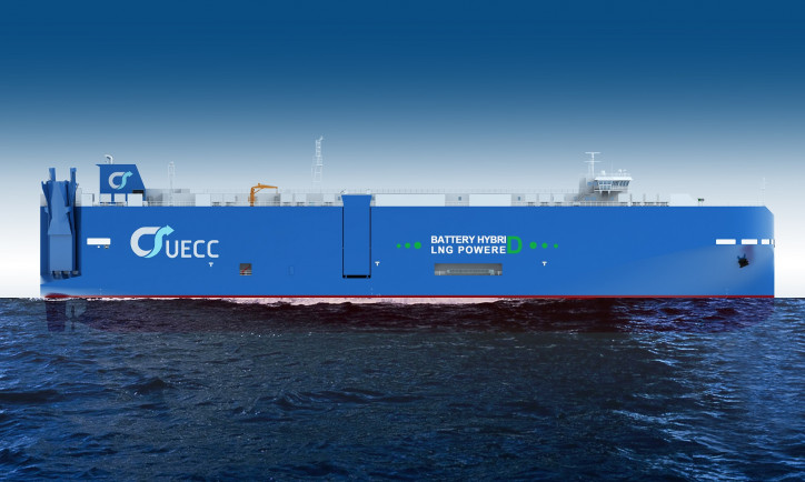 UECC goes for third battery hybrid LNG PCTC