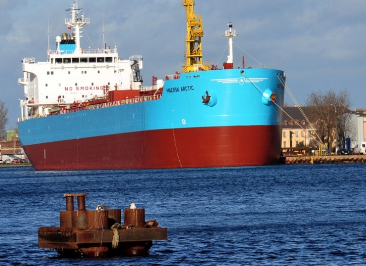 ELBTANK ITALY leaves shipyard after repairs with new name and owner - MAERSK ARCTIC