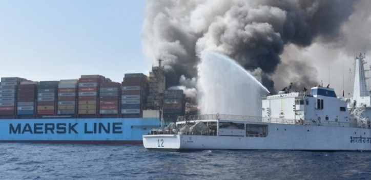 Fire-hit Maersk Honam to be shipped to Hyundai Heavy for rebuilding