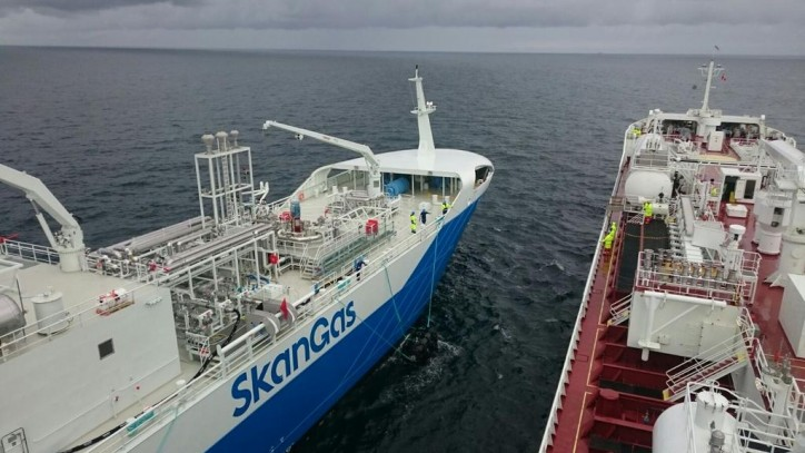 First LNG bunkering ship-to-ship by Coralius to Fure West - VesselFinder