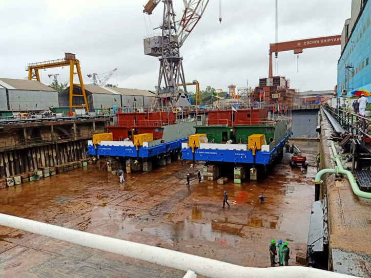 Cochin Shipyard launches two Ro-Pax vessels for Inland Waterways Authority of India