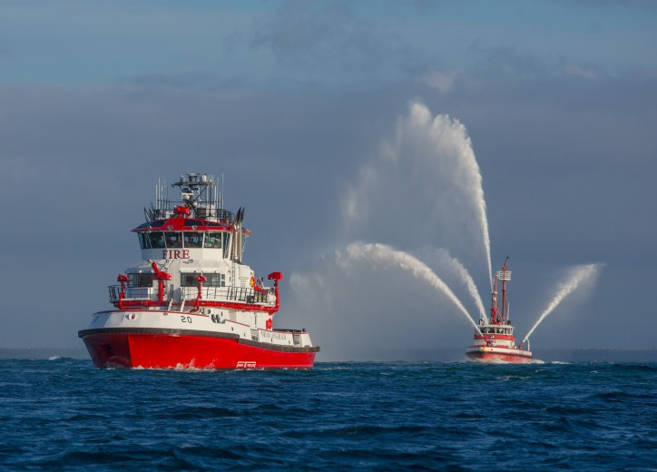 Port of Long Beach Deploys Fireboat In Case of Mega-Ship Fires