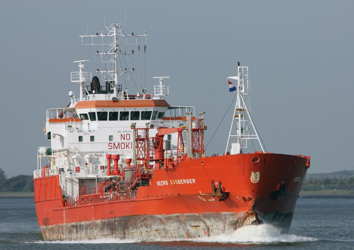 Tanker Georg Essberger allided with Stena quay in Hoek van Holland, Netherlands